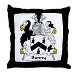 Bunny Family Crest Throw Pillow