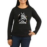 Bunny Family Crest Women's Long Sleeve Dark T-Shir