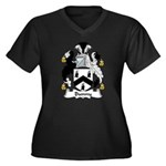 Bunny Family Crest Women's Plus Size V-Neck Dark T