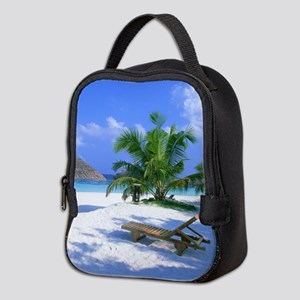 Tropical Beach Neoprene Lunch Bag