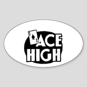 ace high Oval Sticker