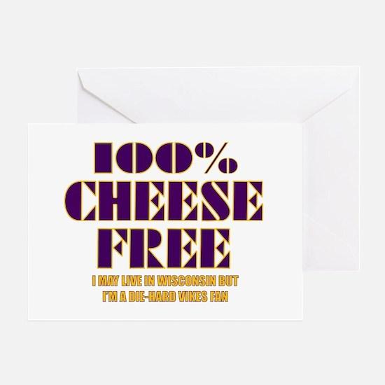 100% Cheese Free - MN Greeting Card