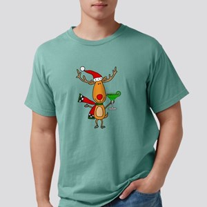Funny Reindeer Drinking Margarita T-Shirt