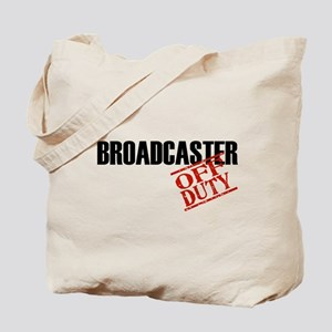 Off Duty Broadcaster Tote Bag