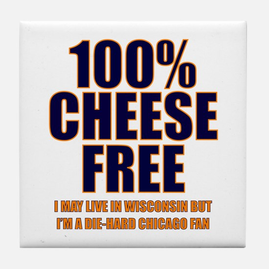100% Cheese Free - Chi Tile Coaster