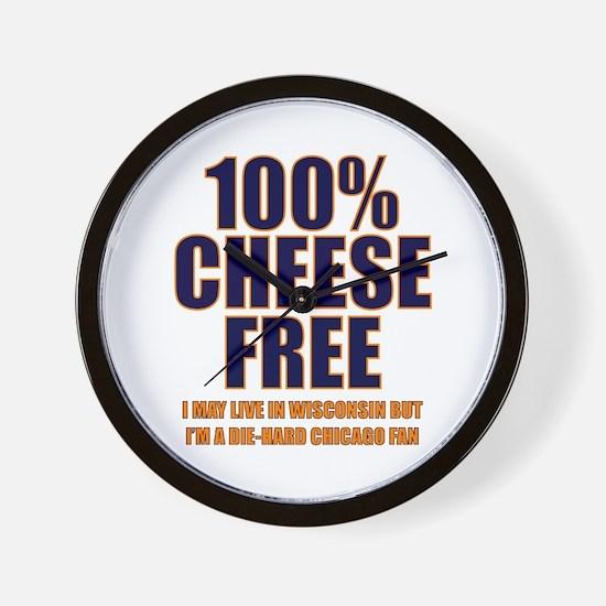 100% Cheese Free - Chi Wall Clock