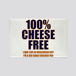 100% Cheese Free - Chi Rectangle Magnet