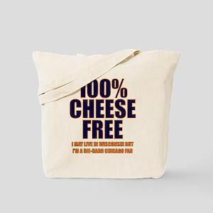100% Cheese Free - Chi Tote Bag