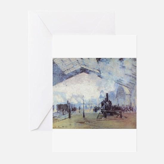 Claude Monet Train Station Fine Art Greeting Cards