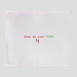 Funny PIPS ForEX CENTER Throw Blanket