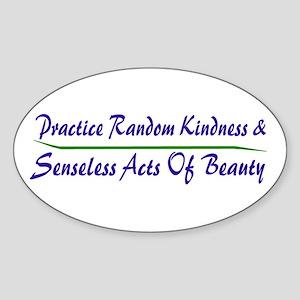 Beauty Oval Sticker
