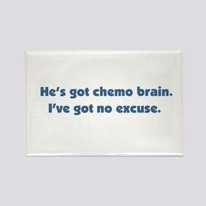 He's Got Chemo Brain Rectangle Magnet
