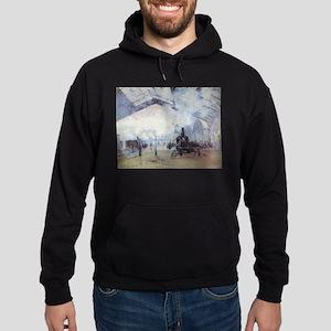 Claude Monet Train Station Fine Art Pai Sweatshirt