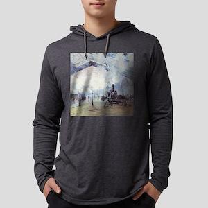 Claude Monet Train Station Fin Long Sleeve T-Shirt
