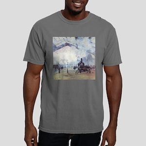 Claude Monet Train Station Fine Art Painti T-Shirt