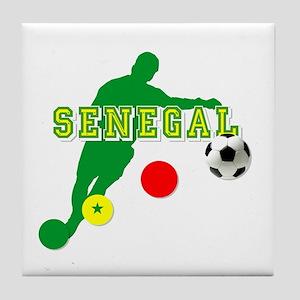 Senegal Soccer Tile Coaster