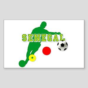 Senegal Soccer Sticker (Rectangle)
