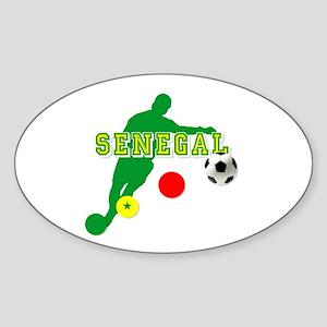 Senegal Soccer Sticker (Oval)