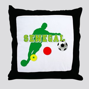 Senegal Soccer Throw Pillow
