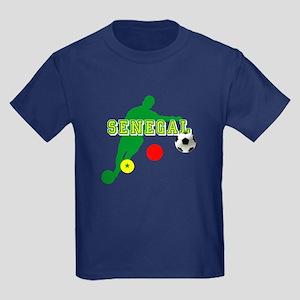 Senegal Soccer Kids Dark T-Shirt