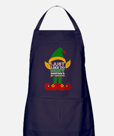 I Just Like To Hunt Huntings My Favor Apron (dark)
