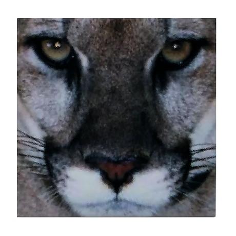 Panther Face Tile Coaster