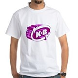 K and b Mens Classic White T-Shirts