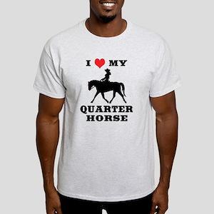 I Heart My Quarter Horse Light T-Shirt