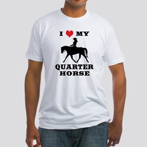 I Heart My Quarter Horse Fitted T-Shirt
