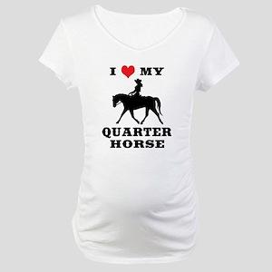 I Heart My Quarter Horse Maternity T-Shirt