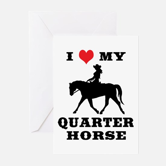 I Heart My Quarter Horse Greeting Cards (Pk of 10)
