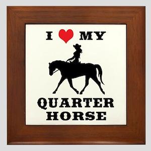 I Heart My Quarter Horse Framed Tile