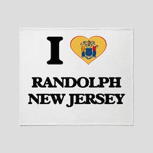 I love Randolph New Jersey Throw Blanket