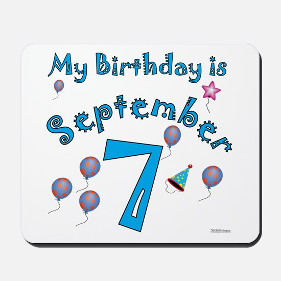 September 7th Birthday Mousepad