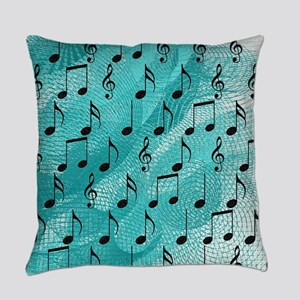 Music notes Everyday Pillow