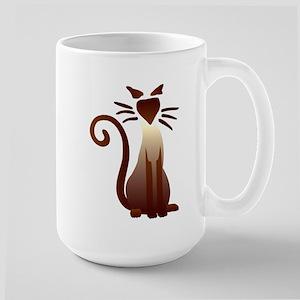 Sleek Sam 15 oz Ceramic Large Mug