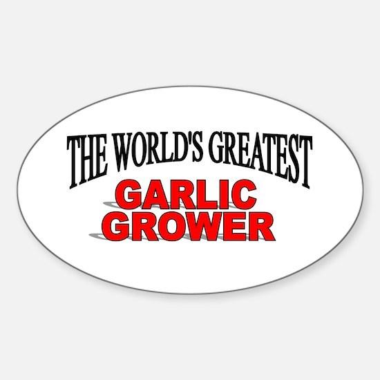 """The World's Greatest Garlic Grower"" Decal"