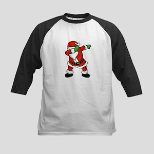 Santa Claus dab dance ugly christm Baseball Jersey