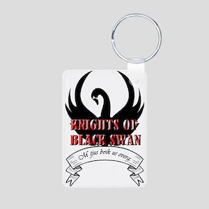 Black Swan Knight Logo Keychains