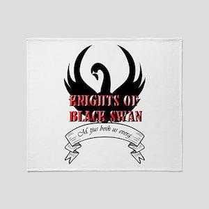 Black Swan Knight Logo Throw Blanket