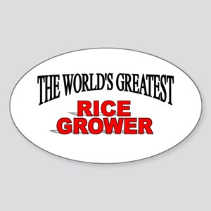 """The World's Greatest Rice Grower"" Oval Sticker"