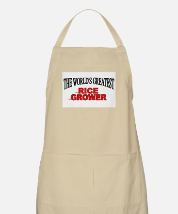 """The World's Greatest Rice Grower"" BBQ Apron"
