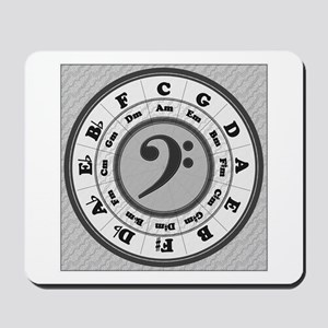 Bass Clef Circle of Fifths Mousepad