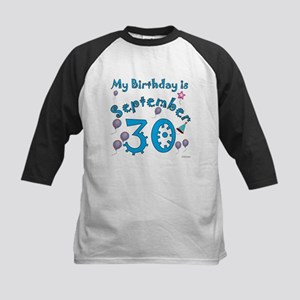 September 30th Birthday Kids Baseball Jersey