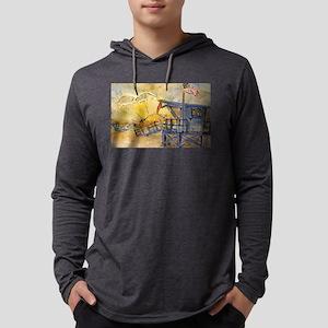 Lifeguard Tower with Sun/Ameri Long Sleeve T-Shirt