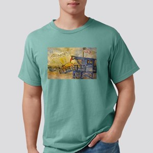 Lifeguard Tower with Sun/American Flag T-Shirt