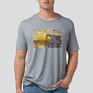 Lifeguard Tower with Sun/American Flag T-Shirt