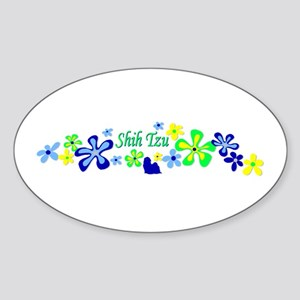 Shih Tzu Sticker (Oval)