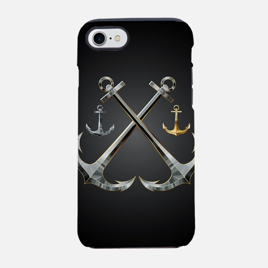 Shiny Anchors iPhone 7 Tough Case