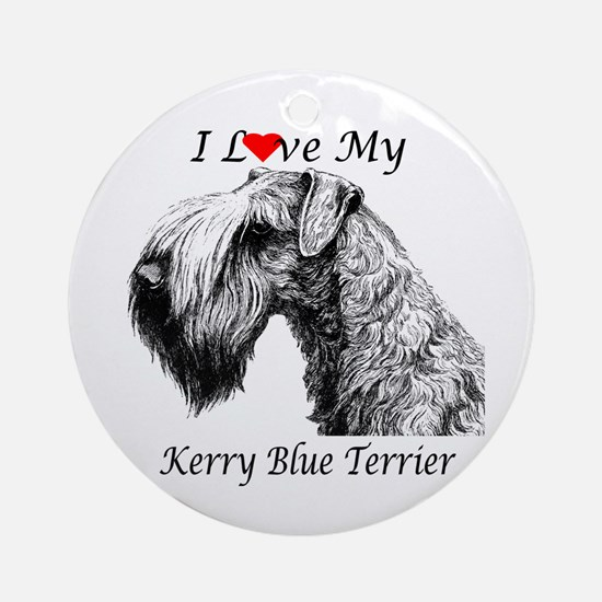 I Love My Kerry Blue-1 Ornament (Round)